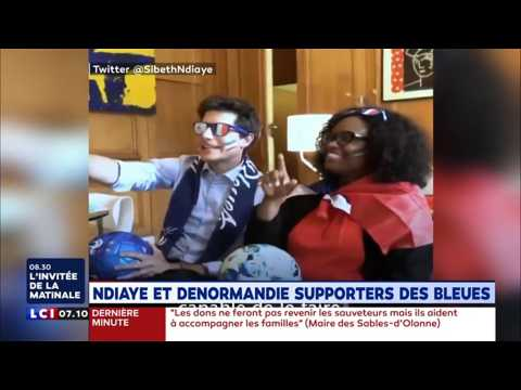 Ndiaye et Denormandie, supporters des Bleues