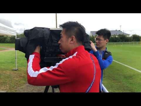 Coupe du Monde. Premier entraînement de la Chine