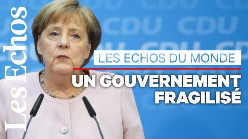 Illustration pour la vidéo L'avenir d'Angela Merkel dépend... du SPD