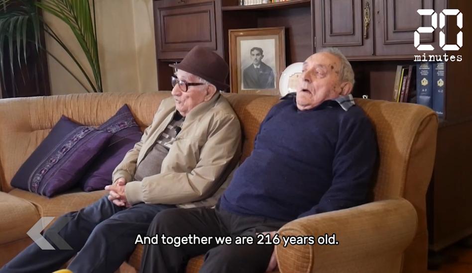 Le Rewind: Les deux plus vieux frères du monde ont 216 ans à eux deux et sont portugais