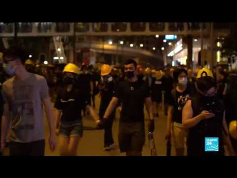"""Pro-Beijing supporters went out to strike us in the street,"" says Hong Kong protester"