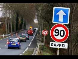 Coup de frein sur le retour au 90