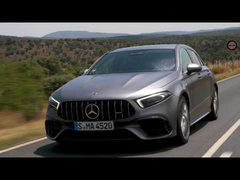 Mercedes-AMG A 45 S 4MATIC+ in Mountain gray Driving Video