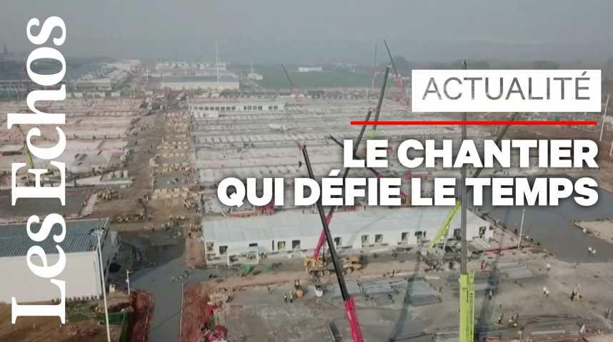 Illustration pour la vidéo A Wuhan, le nouvel hôpital est en train de sortir de terre