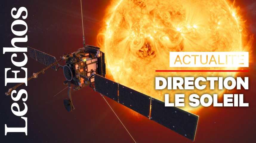 Illustration pour la vidéo La sonde Solar Orbiter est partie explorer le soleil