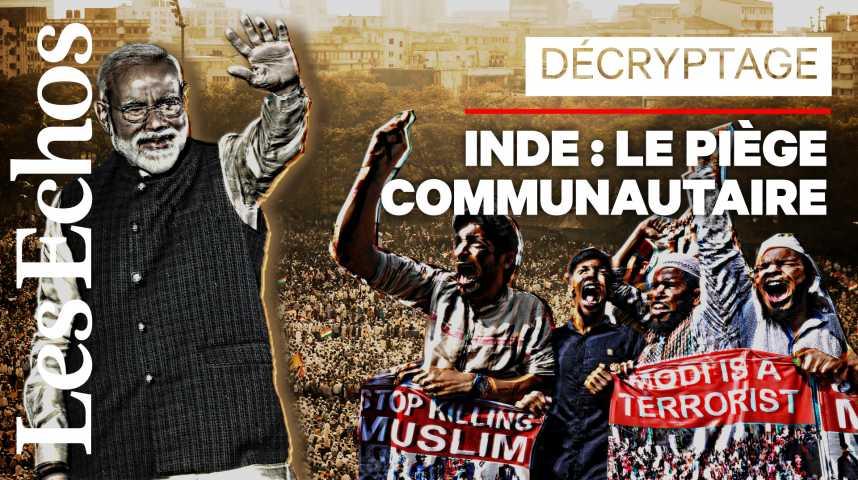 Illustration pour la vidéo Pourquoi l'Inde s'enflamme à propos d'une loi sur la citoyenneté