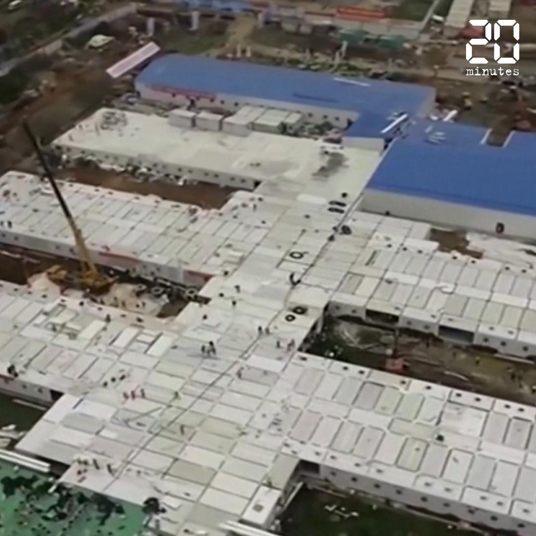 Coronavirus: La Chine fait construire un hôpital en dix jours