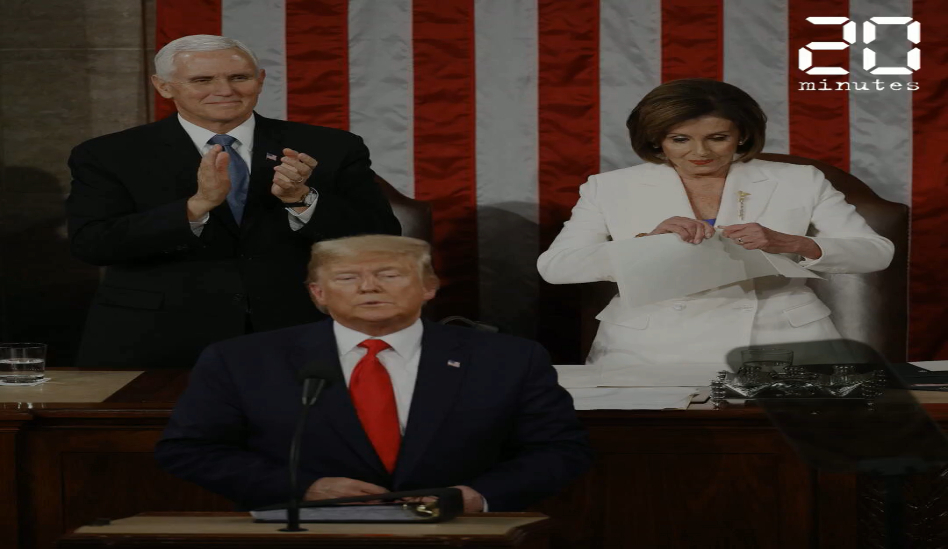 VIDEO. Etat de l'Union: Nancy Pelosi déchire le discours de Donald Trump en direct