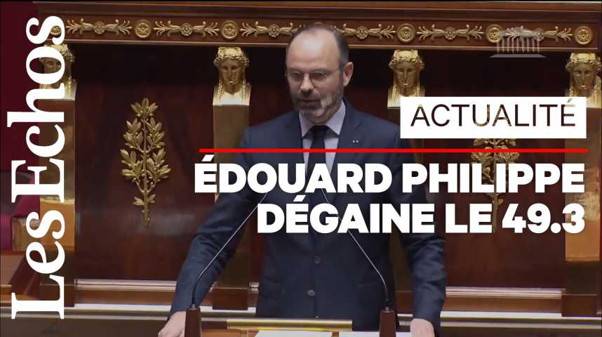 Illustration pour la vidéo Retraites : Edouard Philippe annonce le recours au 49.3