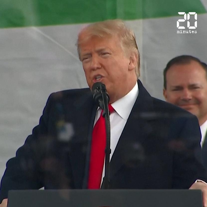 A la marche anti-avortement, le discours de Trump prend des allures de meeting de campagne