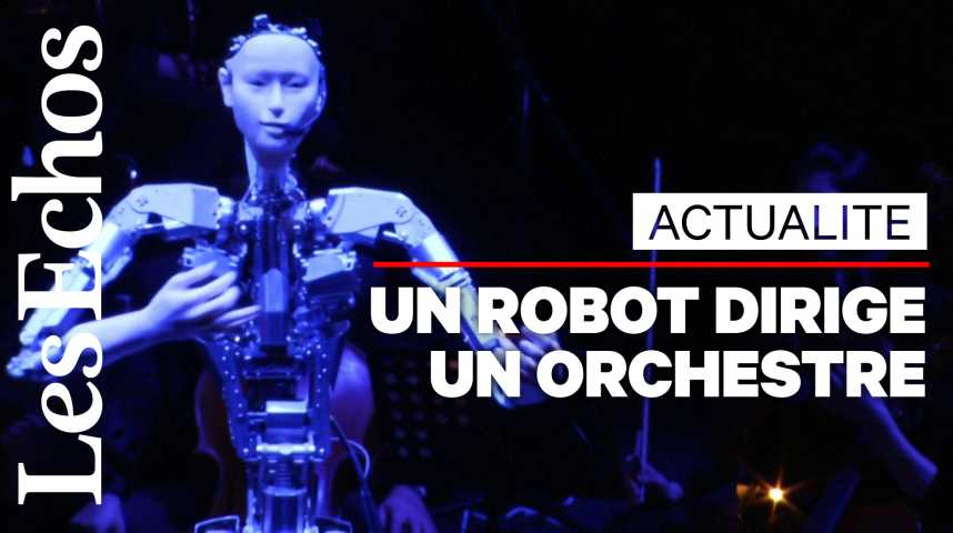 Illustration pour la vidéo Un robot humanoïde dirige un orchestre