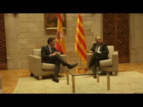 Spanish PM Sanchez meets Catalan separatist president Quim Torra
