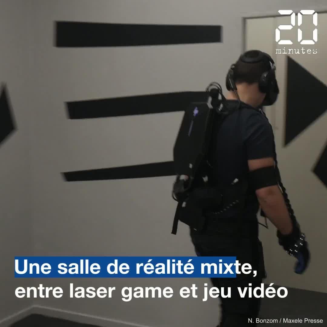 Montpellier : Une salle de réalité mixte, entre laser game et jeu vidéo