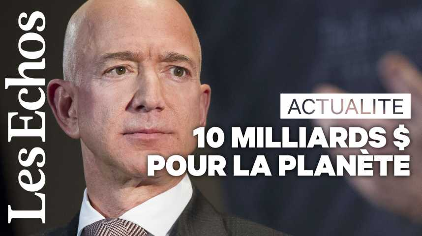 Illustration pour la vidéo Jeff Bezos promet 10 milliards de dollars pour la planète