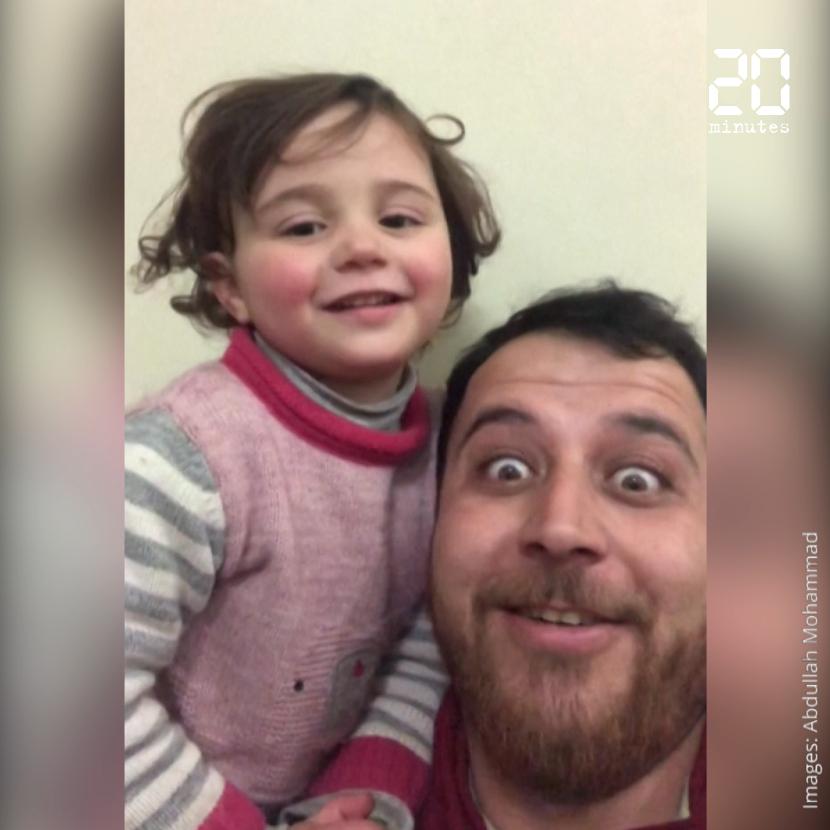 Syrie: Un père invente un jeu pour distraire sa fille pendant les bombardements