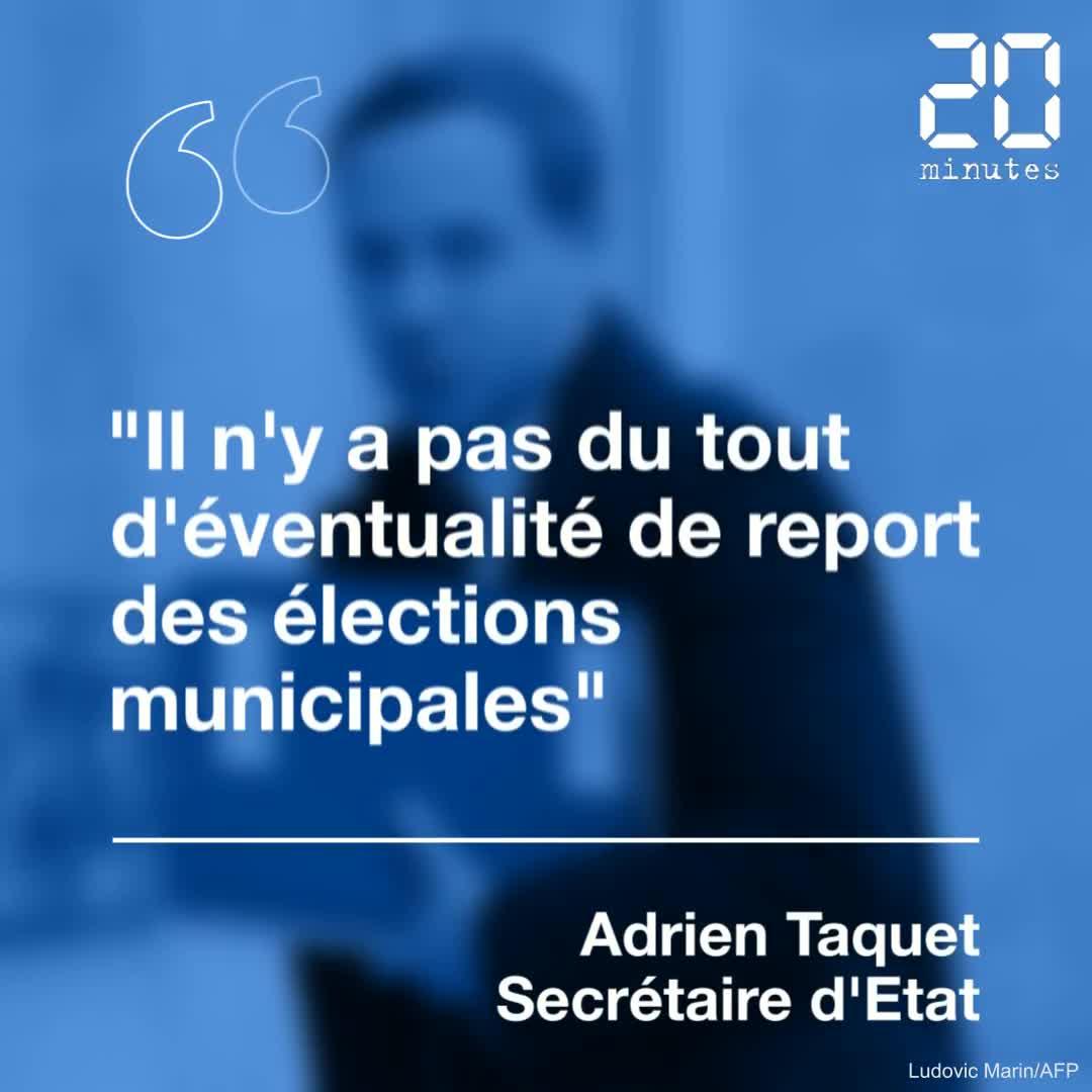 « Il n'y a pas du tout d'éventualité de report des municipales»