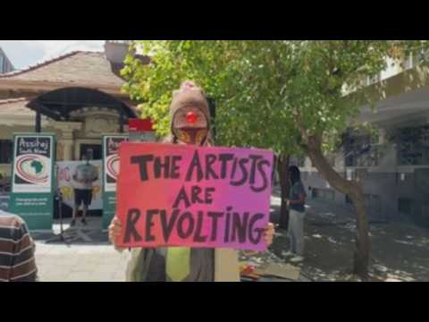 Artists protest in Johannesburg demanding plan of aid for the sector