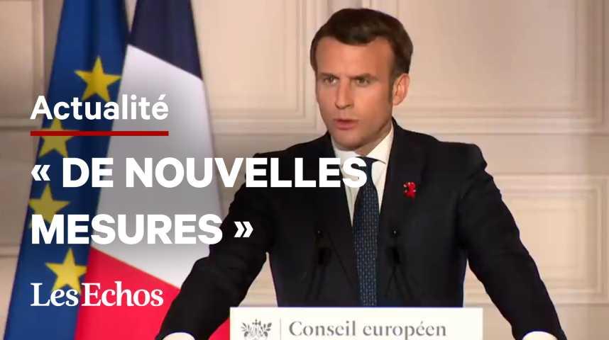 Illustration pour la vidéo Emmanuel Macron évoque de « nouvelles mesures » pour freiner l'épidémie