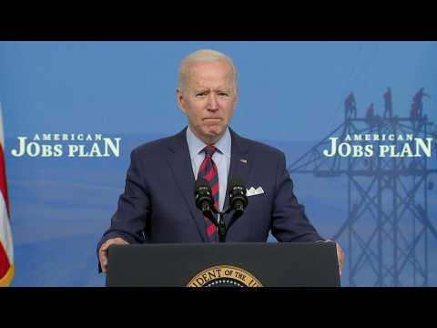 Biden says US needs infrastructure plan to 'lead the world'