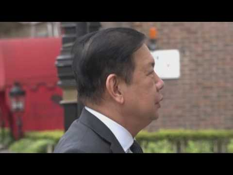 Arrival of the Myanmar ambassador to the London embassy