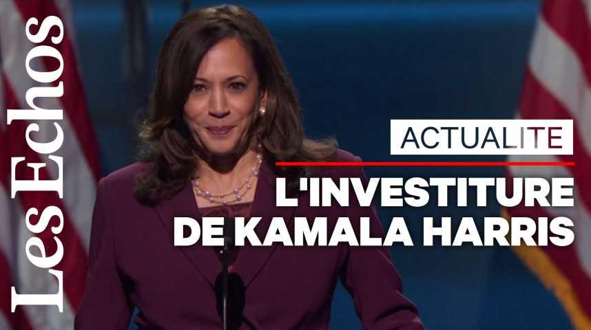 Illustration pour la vidéo Officiellement investie, Kamala Harris exhorte les Américains à tourner la page Trump