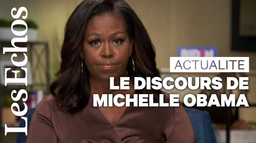 Illustration pour la vidéo Michelle Obama charge Donald Trump lors de la convention démocrate