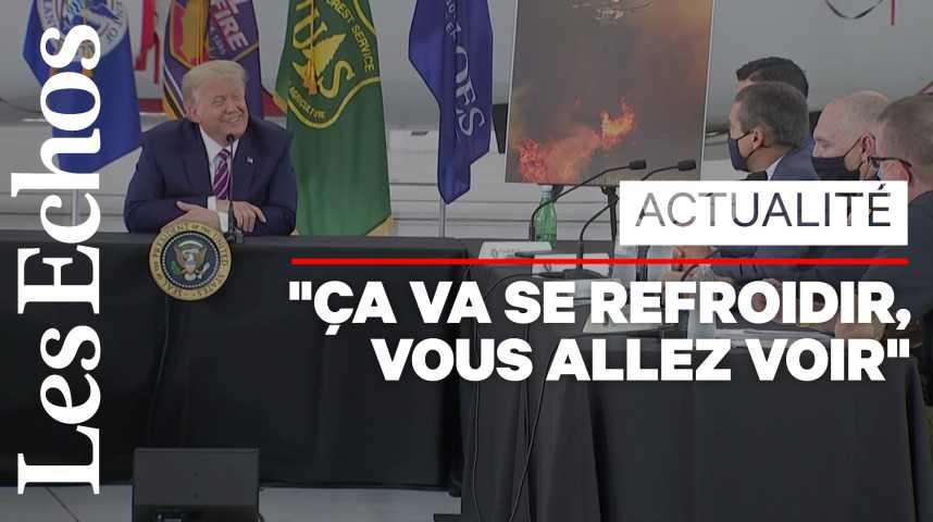 Illustration pour la vidéo Le réchauffement climatique ? «Ça finira par se refroidir», lance Donald Trump
