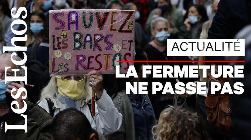 Illustration pour la vidéo A Marseille, la colère après l'annonce de la fermeture des bars et restaurants