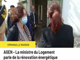 AGEN - La ministre du Logement  parle de la rénovation énergétique