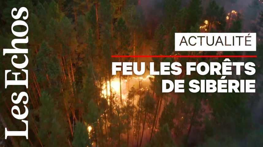 Illustration pour la vidéo Près de 200 incendies ravagent les forêts de Sibérie