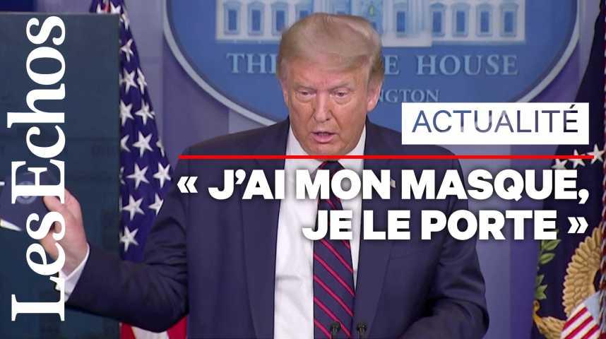 Illustration pour la vidéo Donald Trump recommande désormais le port du masque
