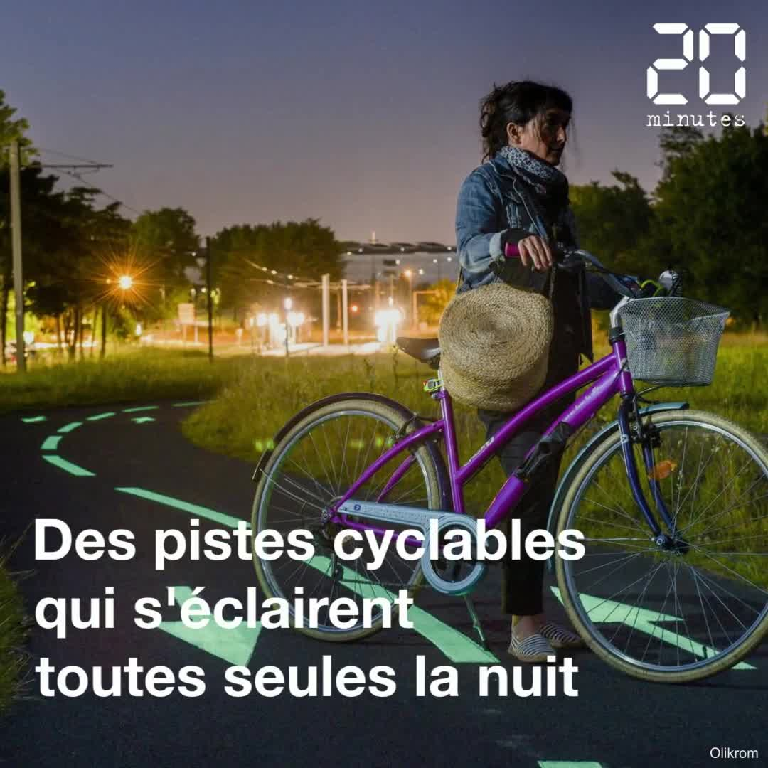 Bordeaux : Des pistes cyclables qui s'éclairent toutes seules la nuit