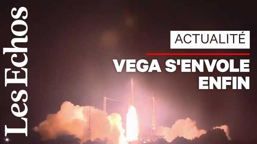 Illustration pour la vidéo La fusée Vega réussit à déployer 53 mini-satellites