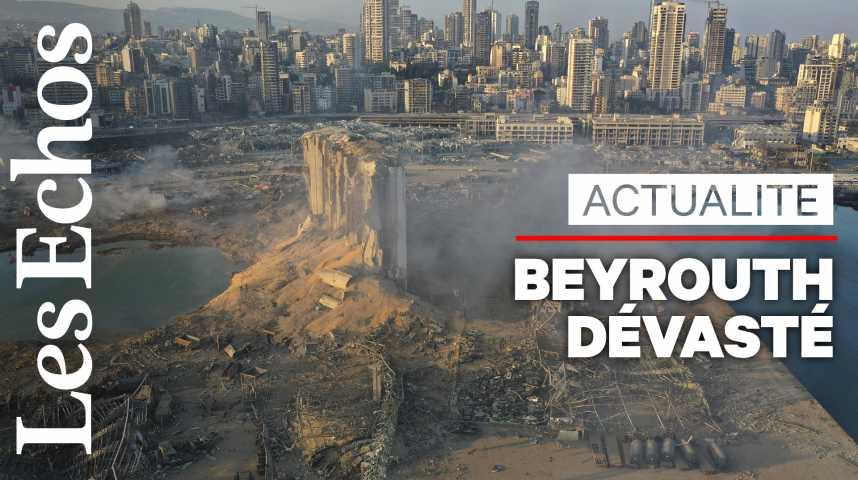 Illustration pour la vidéo Après une double explosion, le port de Beyrouth dévasté