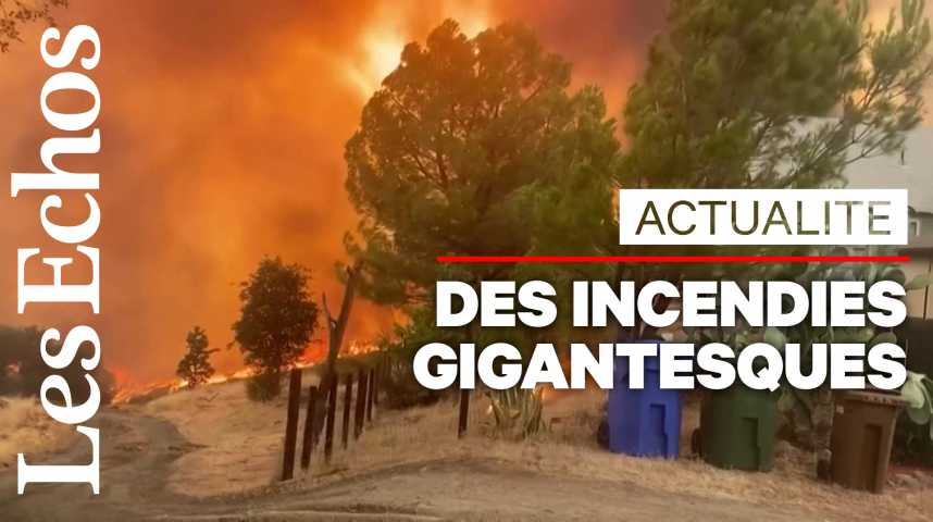 Illustration pour la vidéo De gigantesques incendies frappent la Californie