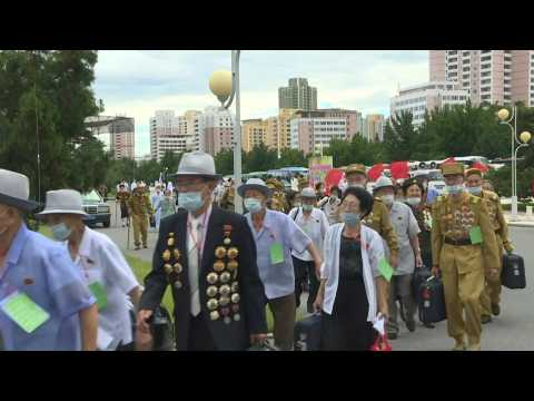 North Korean war veterans gather to mark armistice anniversary