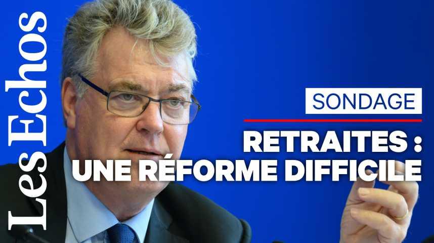 Illustration pour la vidéo 44% des Français opposés à la réforme des retraites