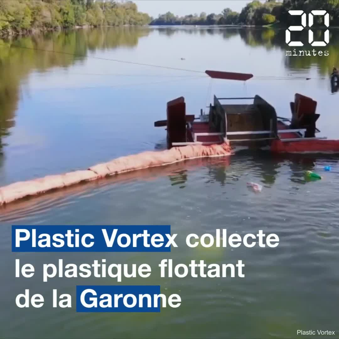 Platic Vortex collecte les déchets flottants de la Garonne