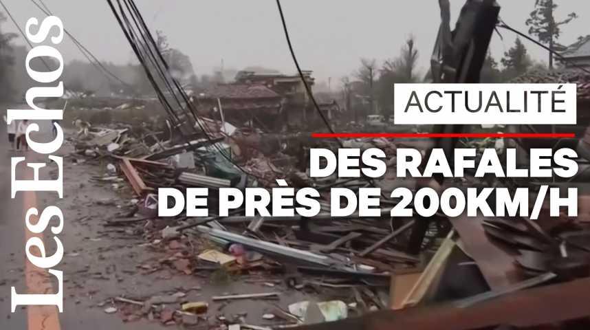 Illustration pour la vidéo Le typhon Hagibis qui s'est abattu sur le Japon a fait près de 70 morts