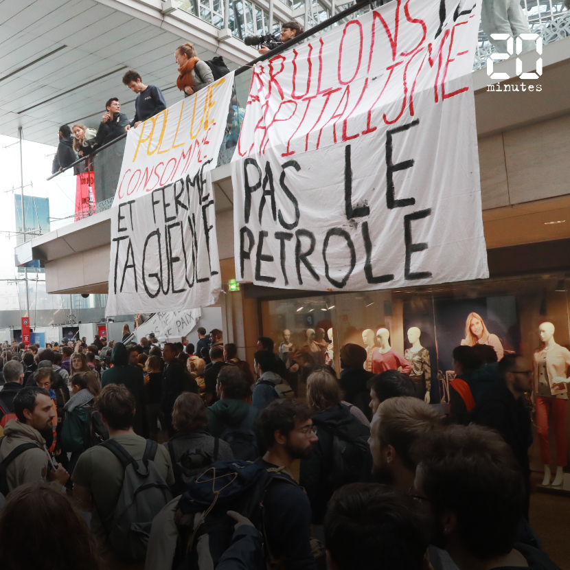 VIDEO. Climat Extinction Rebellion occupe le centre commercial Italie 2 à Paris