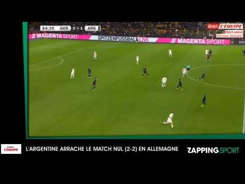 Zap sport du 10 octobre : l'Argentine arrache le match nul en Allemagne (vidéo)