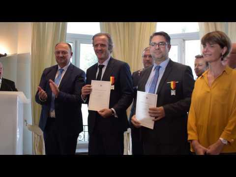 Benoît Poelvoorde et Robert Waseige honorés lors des Mérites wallons