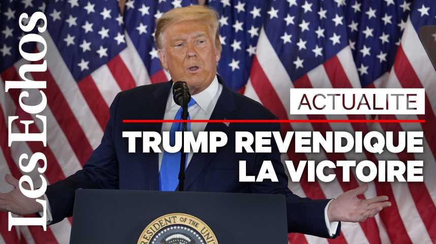 Illustration pour la vidéo Trump revendique avoir « gagné » l'élection et dénonce une « tentative de fraude »