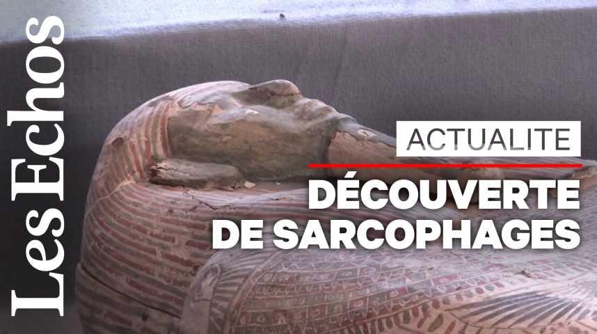 Illustration pour la vidéo L'Egypte dévoile plus de cent sarcophages intacts au sud du Caire