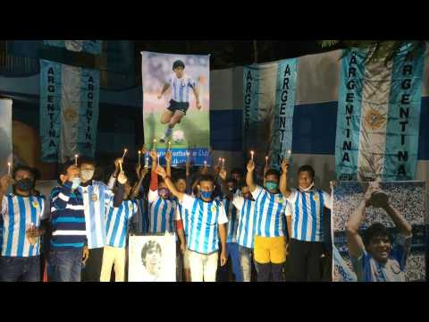 India Maradona fans mourn 'Our God' Diego