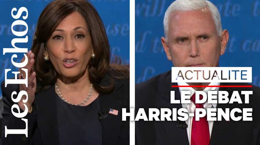 Illustration pour la vidéo Les moments clefs du débat entre Kamala Harris et Mike Pence
