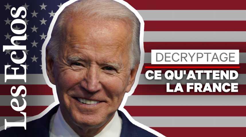 Illustration pour la vidéo Ce que la victoire de Joe Biden pourrait changer… pour la France