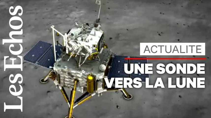 Illustration pour la vidéo La Chine envoie une sonde pour ramener des roches lunaires