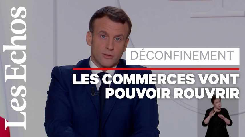 Illustration pour la vidéo Emmanuel Macron annonce un déconfinement par paliers