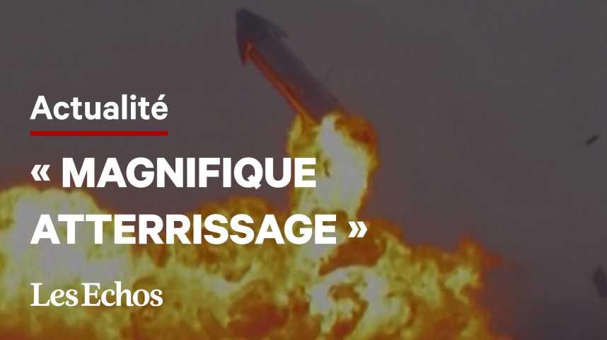 Illustration pour la vidéo La fusée Starship explose juste après son atterrissage